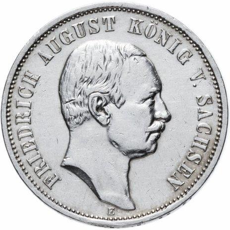 """купить Германская Империя (Саксония) 3 марки 1910 """"Е"""""""