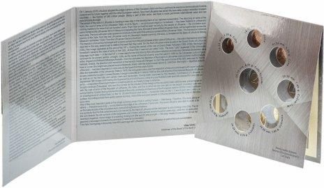 купить Литва набор из 8 монет евро 2015, в буклете
