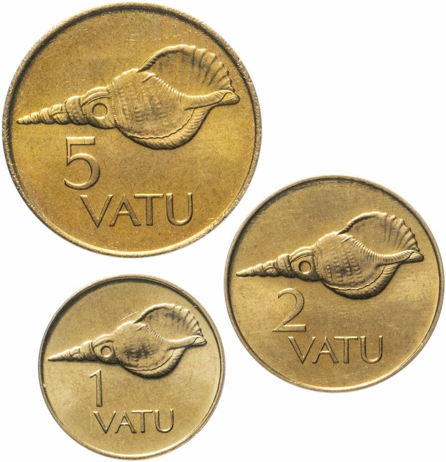купить Вануату набор из 3 монет 1999-2002