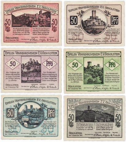 купить Германия (Рейнская провинция: Герольштайн) набор из 6 нотгельдов  1921