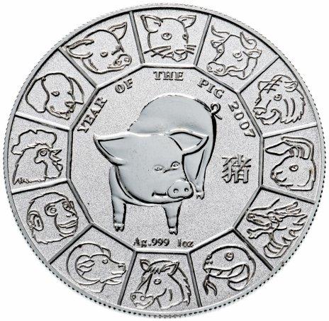 """купить Ниуэ 1 доллар 2007 """"Китайский гороскоп - Год Свиньи"""""""