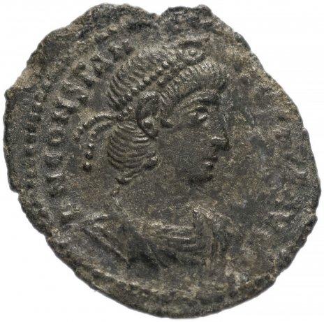 купить Римская Империя Констанций II 324–361 гг фоллис (реверс: воин поражает копьем падающего всадника)