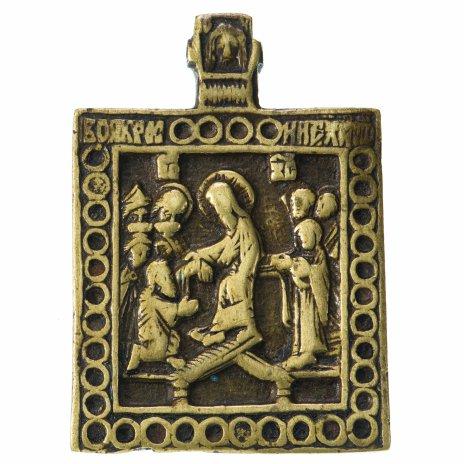 """купить Икона """"Воскресение Христово, Сошествие во ад"""", бронза, литье, Российская Империя, 1750-1790 гг."""
