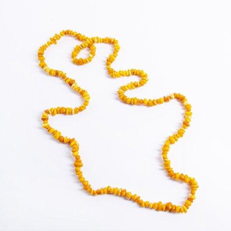 купить Бусы винтажные с бусинами разных форм и оттенков, янтарь, нить, СССР, 1960-1980 гг.