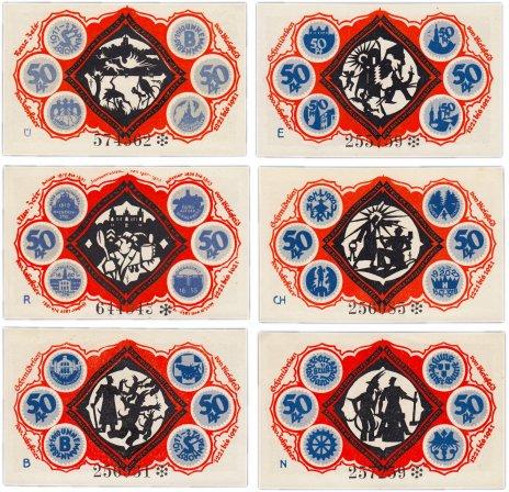 купить Германия (Вестфалия: Билефельд) набор из 6 нотгельдов 1921 (103.4/B1)
