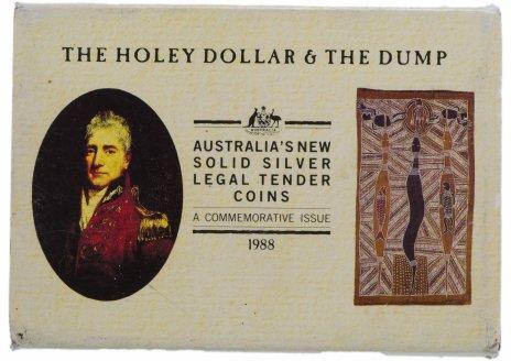 купить Австралия 25 центов + 1 холли доллар 1988 в буклете