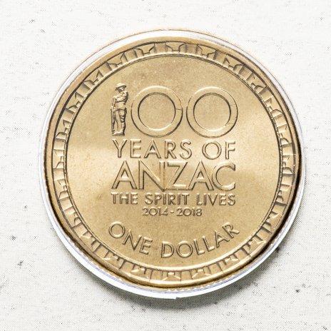 """купить Австралия 1 доллар 2014 """"100 лет АНЗАК"""" (в конверте, с маркой)"""