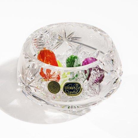 купить Ваза миниатюрная с декоративными леденцами из хрусталя, Чехия, 1970-2000 гг.