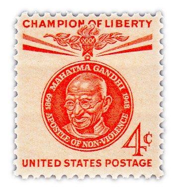 "купить США 4 цента 1961 ""Мухаммед Ганди"""
