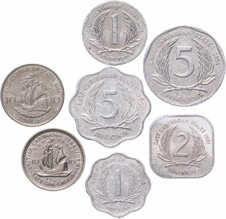 купить Восточные Карибы набор из 7 монет 1965-2008