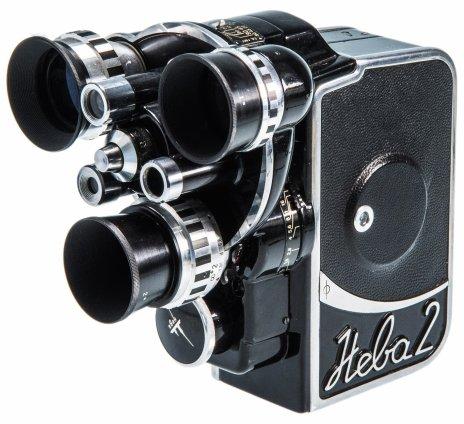 """купить Кинокамера """"Нева-2"""" для пленки """"Orwocolor UK 18"""", в футляре, ГДР, 1960-1980 гг."""