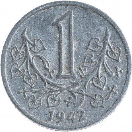 купить Богемия и Моравия 1 крона 1942