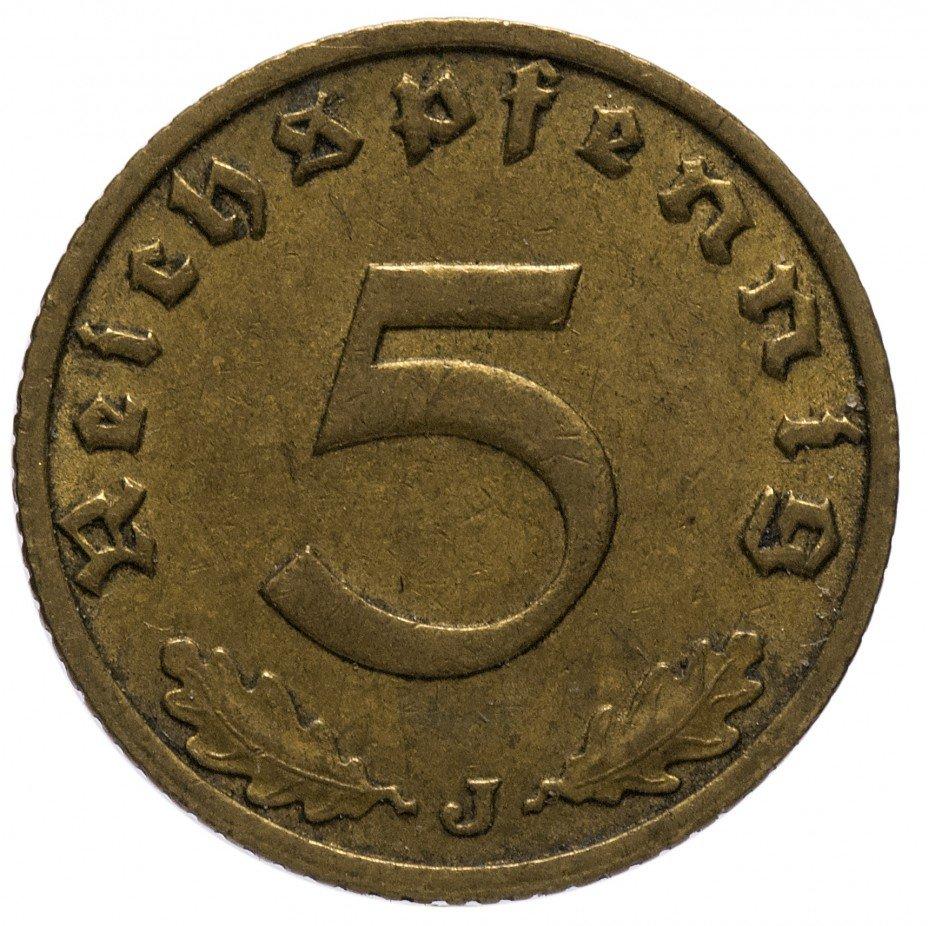 "купить 5 рейх пфеннигов 1938""J"""