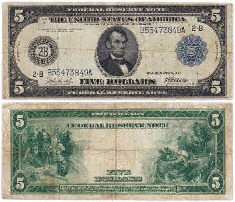 купить США 5 долларов 1914 Series 1914 (Pick 359) New York (Нью-Йорк), Burke-McAdoo