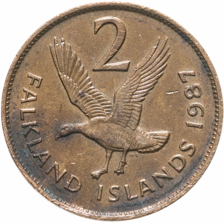купить Фолклендские острова 2 пенса (pence) 1987