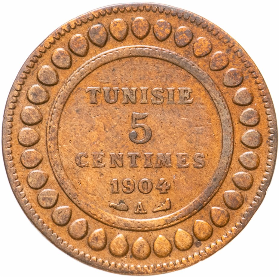 купить Тунис 5сантимов (centimes) 1904