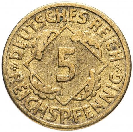 купить Германия, Веймарская республика 5 пфеннигов (reichspfennig, rentenpfennig) 1923-1936, случайная дата