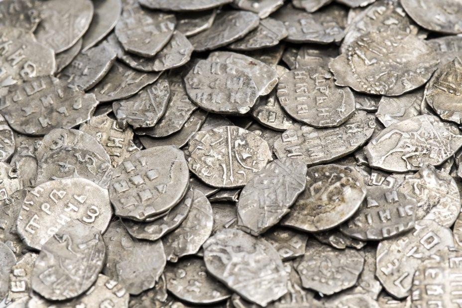 купить Серебряная копейка Петра I 1696-1717 гг (до реформы)