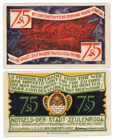 купить Германия (Цойленрода) 75 пфеннигов 1921