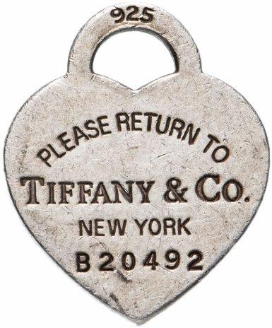 """купить Подвеска-Жетон """"Tiffany & Co."""", номерной """" B20492"""""""
