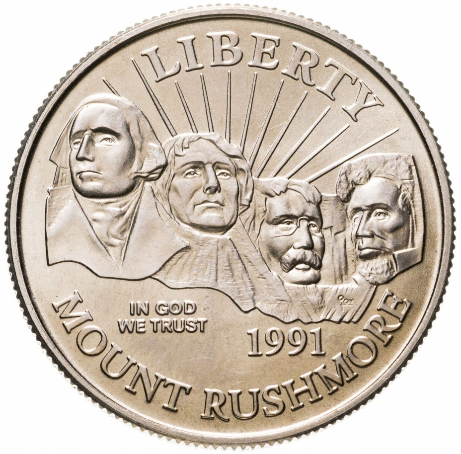 """купить США 50 центов 1991 """"Гора Рашмор"""""""