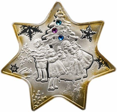 """купить Ниуэ 1 доллар 2010 """"Рождественская звезда"""" в капсуле и буклете с сертификатом"""