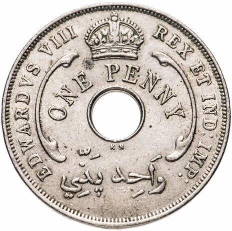 купить Британская Западная Африка 1 пенни (penny) 1936 KN Эдуард VIII