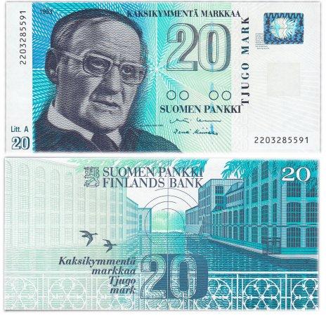 купить Финляндия 20 марок 1993 (Pick 123(14))