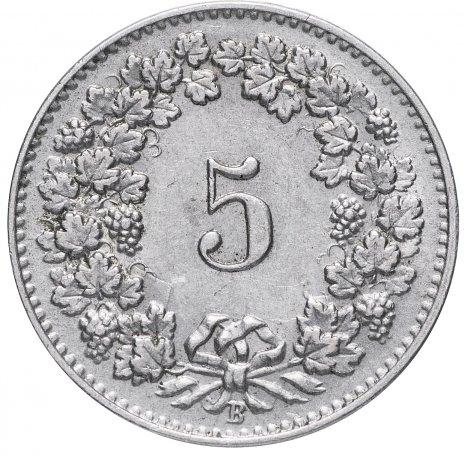 купить Швейцария 5 раппенов 1906