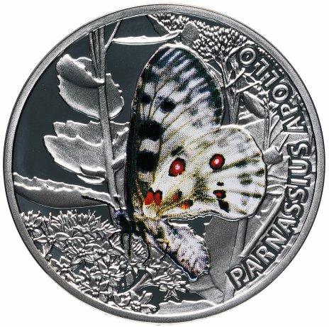 """купить Ниуэ 1 доллар 2010 """"Мир бабочек - Аполлон"""" с сертификатом"""