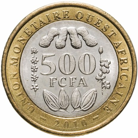 купить Западная Африка (BCEAO) 500 франков (francs) 2010