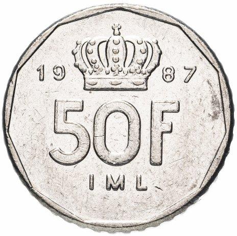 купить Люксембург 50 франков 1987-1989 без надписи