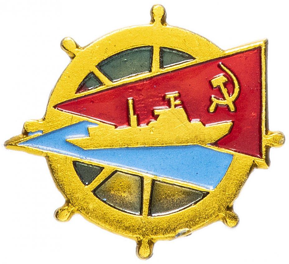 """купить Значок СССР 1971г """"Штурвал"""", Булавка"""