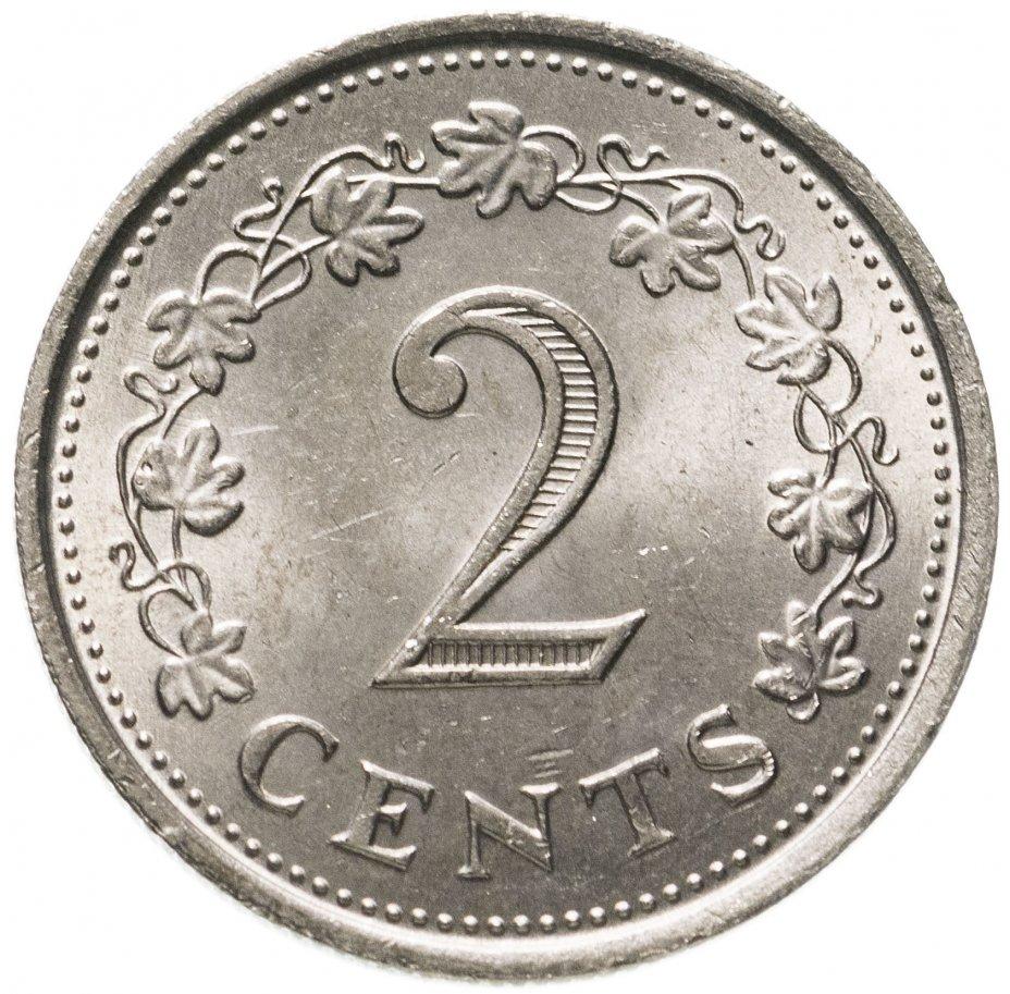 купить Мальта 2 цента (cents) 1972