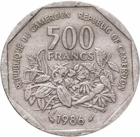 купить Центральная Африка (BEAC), Камерун 500 франков (francs) 1986