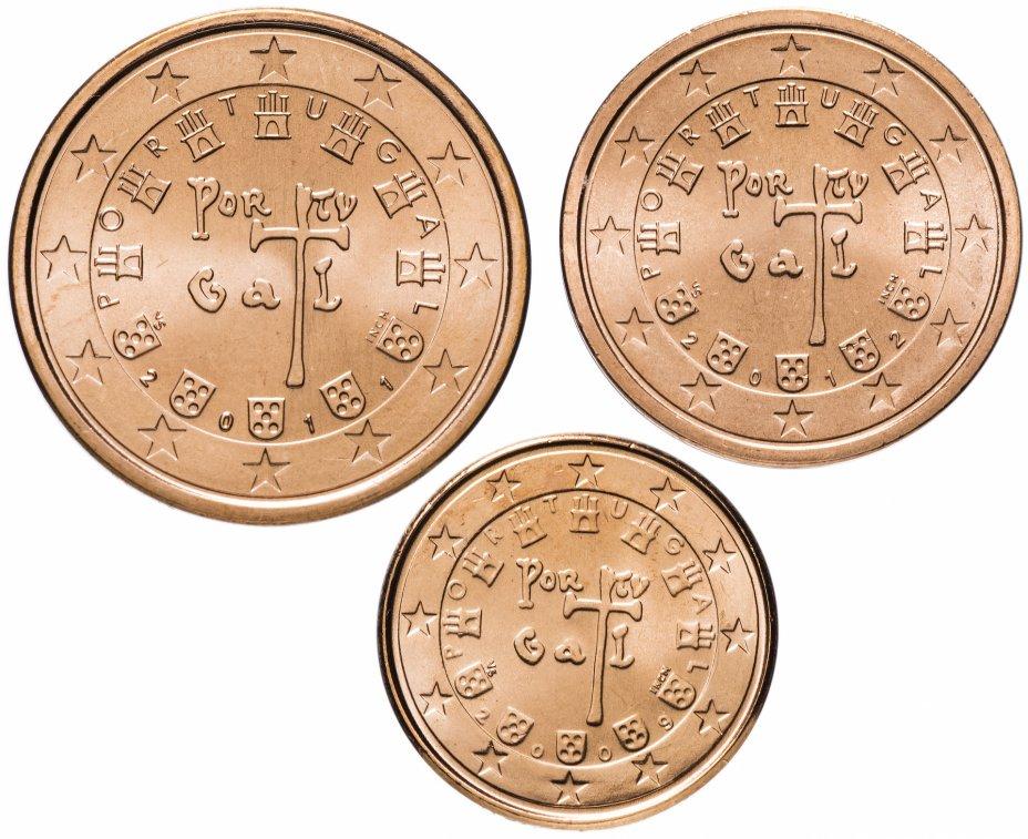 купить Португалия набор монет от 1 до 5 евро центов (3 штуки)