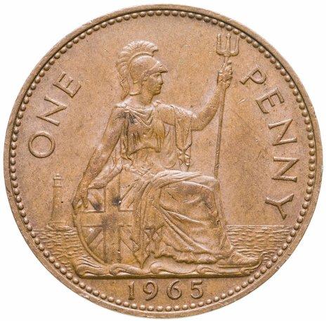 купить Великобритания 1 пенни 1965