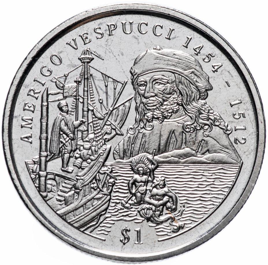 купить Сьерра-Леоне 1 доллар (dollar) 1999 Америго Веспуччи