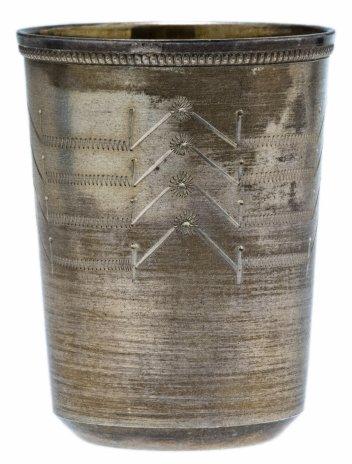 купить Стопка с гравировкой и позолотой, СССР, таллинский ювелирный завод, 1966 г.