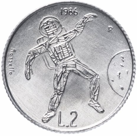 "купить Сан-Марино 2лиры (lire) 1986 ""Эволюция технологий"""