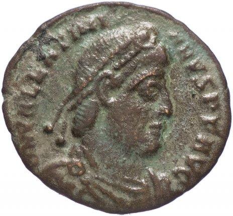 купить Римская Империя Валентиниан I 364-375 гг центенионалис (реверс: Виктория идет влево, в руках - венок и пальмовая ветвь)