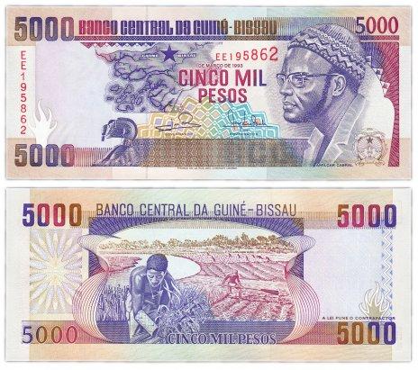 купить Гвинея-Биссау 5000 песо 1993 (Pick 14b)
