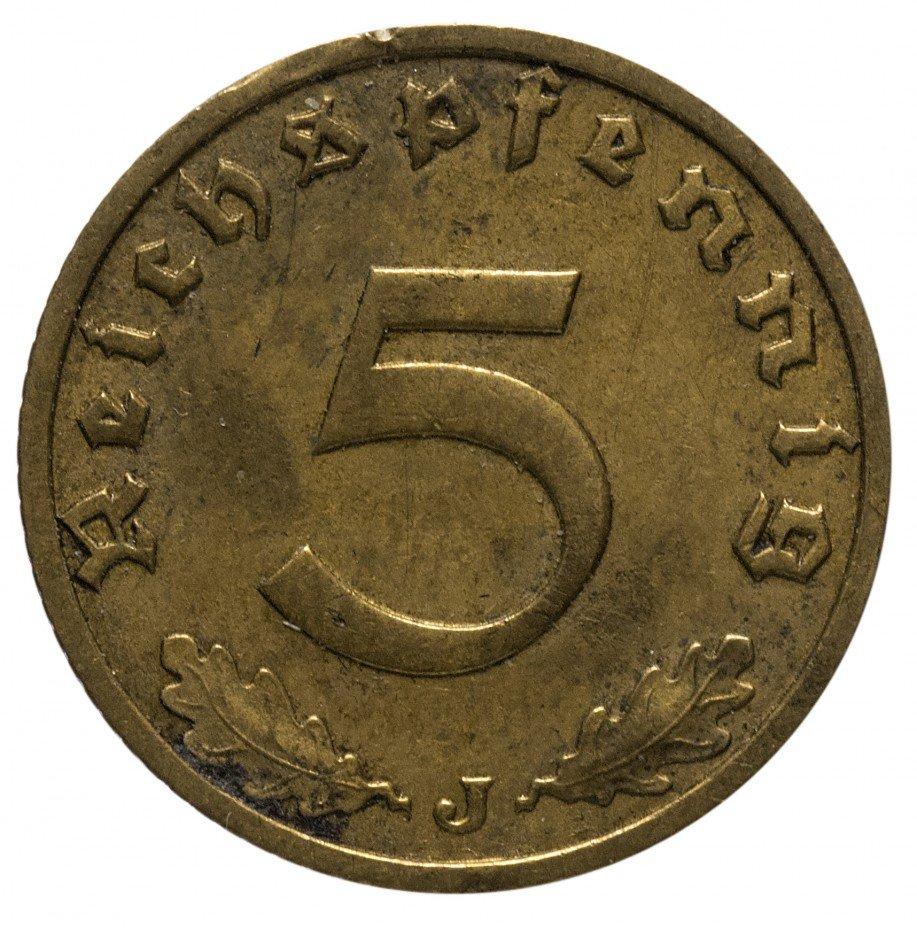 "купить 5 рейх пфеннигов 1937 ""J"""