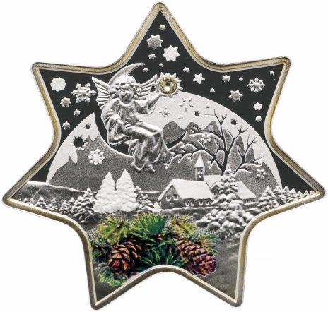 """купить Ниуэ 2 доллара 2012 """"Рождественская звезда"""" в капсуле и буклете с сертификатом"""