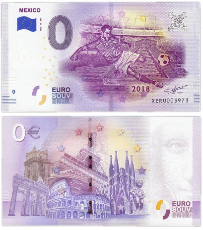 "купить 0 евро (euro) ""Мексика"" 2018 15-серия (XE RU-15-MX)"