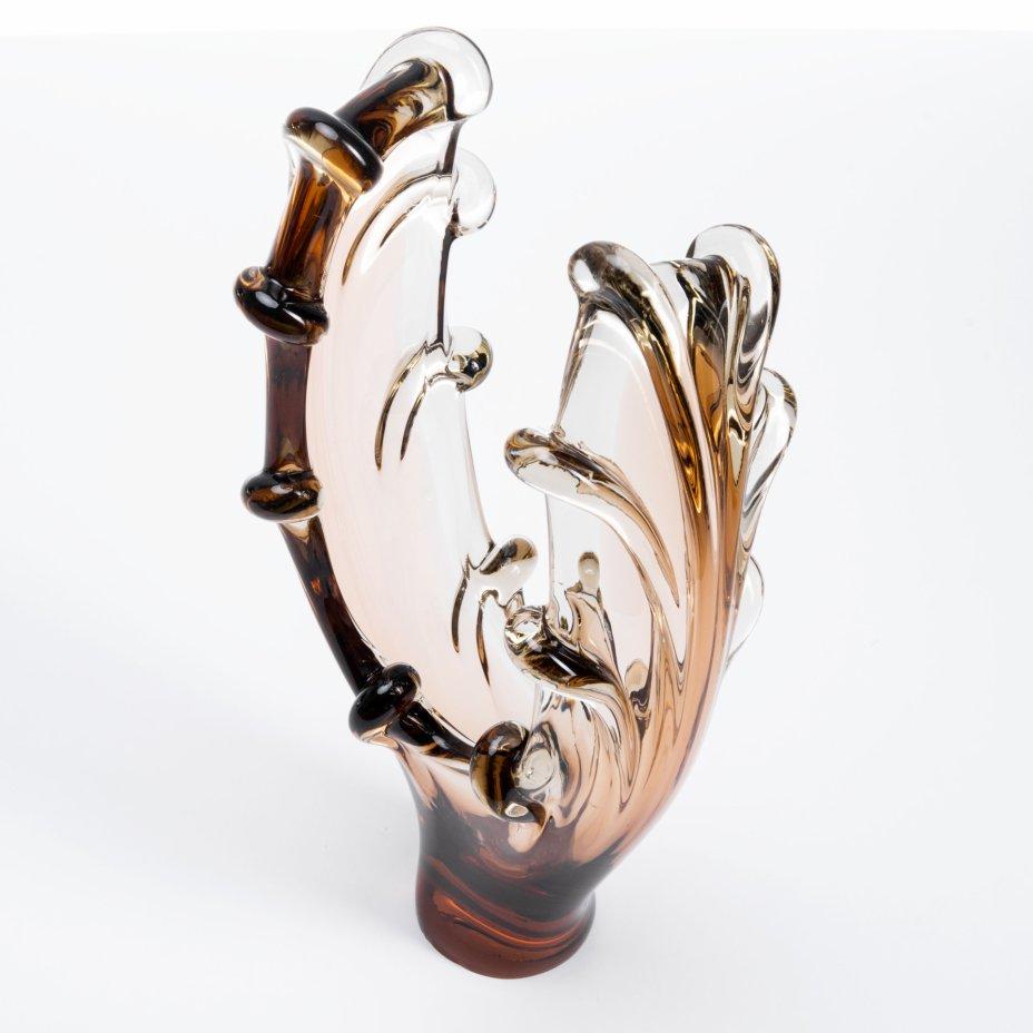 купить Ваза интерьерная абстрактной формы, стекло, Чехословакия, 1970-1980 гг.