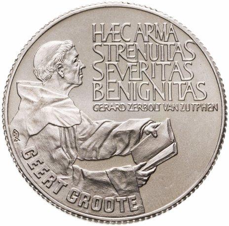 купить Нидерланды 10 экю 1990 650 лет со дня рождения Герта Гроте