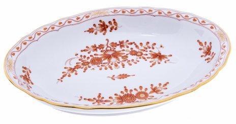 """купить Салатник """"Индийский цветок"""", фарфор, роспись, деколь, золочение, Meissen porcelain manufactory, Германия, 1956-1980 гг."""