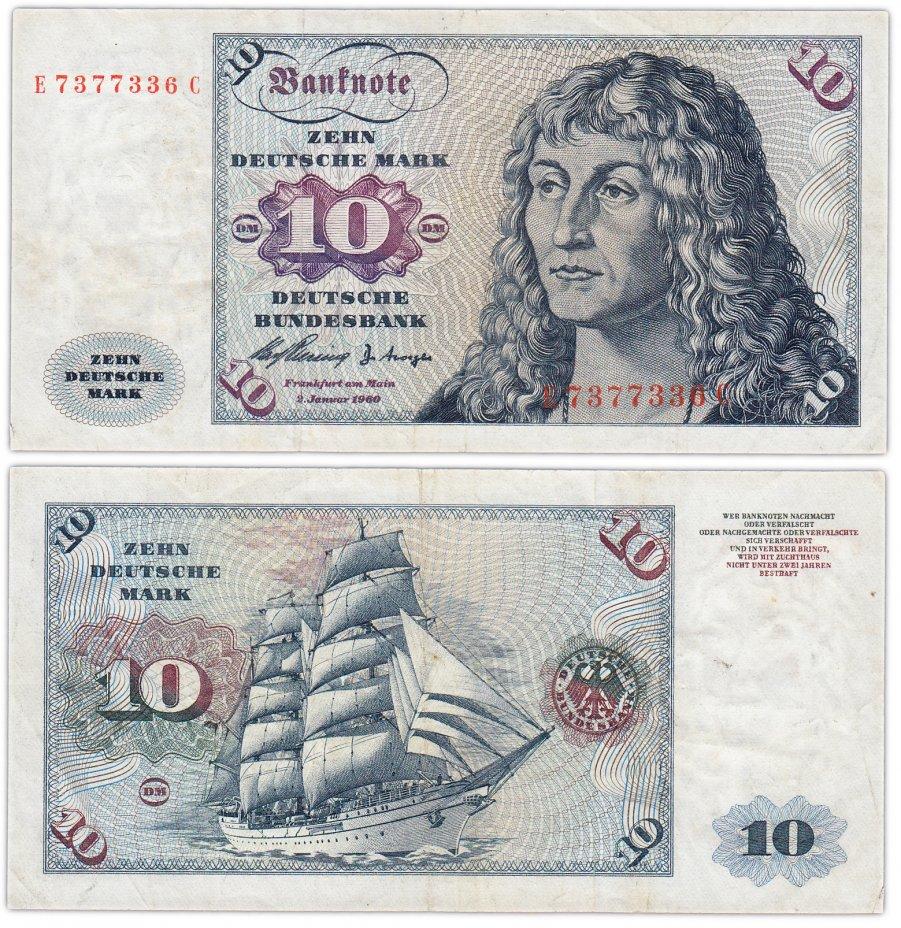 купить Германия ФРГ 10 марок 1960 (Pick 19a)