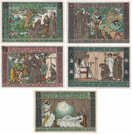 купить Германия (Тюрингия: Шварцбург) набор из 5 нотгельдов 1921